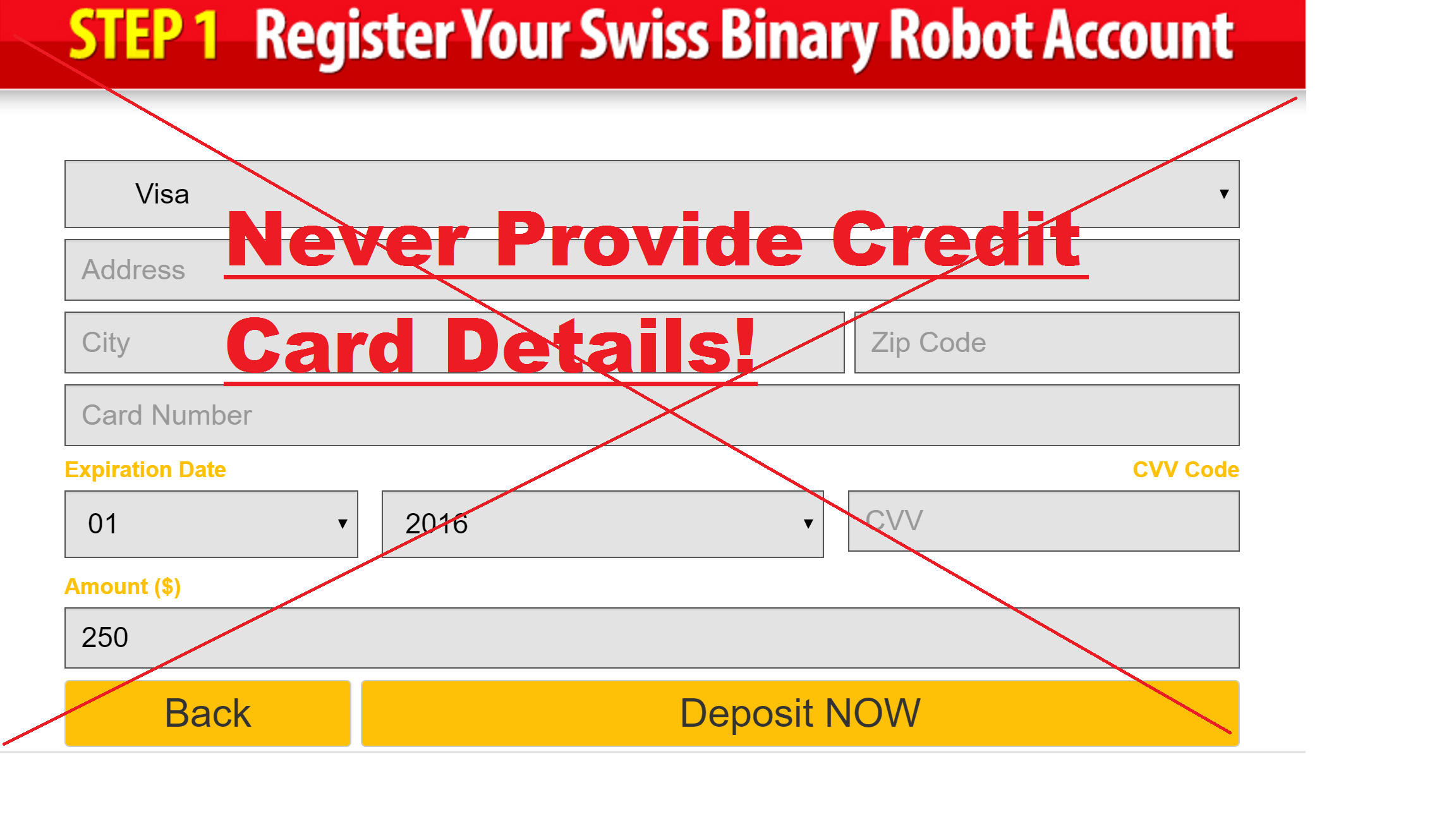 Swiss binary robot scam